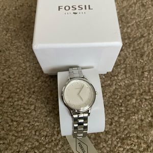 *New* Fossil watch with diamond